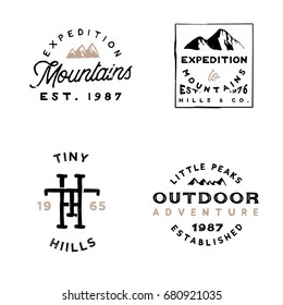 Vintage adventure themed retro badges. badges / logos are perfect for branding projects, apparel design, t-shirt prints, social media, typography design, labels, greeting cards and many more.