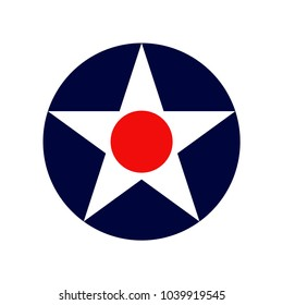 Vintage Air Force roundel insignia