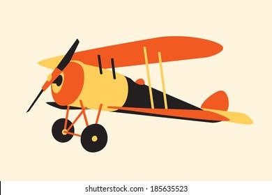 vintage  airplane,  WWI era