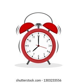 Vintage Alarm clock colored icon in flat style. Wake Up symbol for your web site design, logo, app, UI Vector EPS 10.