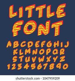 Vintage alphabet font design  handcrafted vector collection
