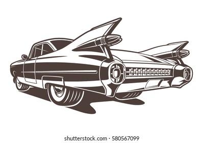 Vintage american car.