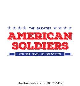 vintage american soldiers t-shirt design