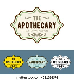 Vintage & Apothecary-Style Label