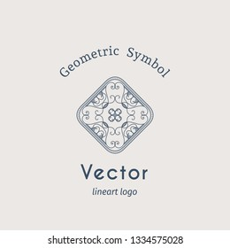 Vintage arabic ornament. Vector emblem for luxury logos and retro ornamental design.