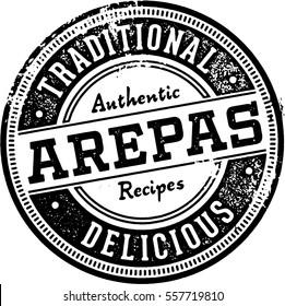 Vintage, Arepa Restaurant Menu Stamp