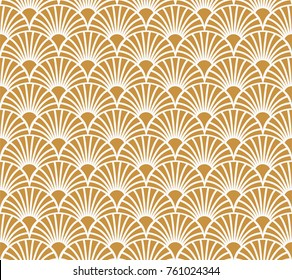 Vintage Art Deco Seamless Pattern. Geometric decorative texture. Vector floral background.