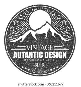 vintage art . retro design, logos & label