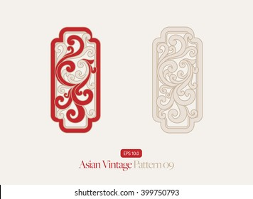 Vintage Asian Style Pattern