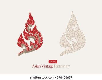 Vintage Asian Style Pattern - Vector