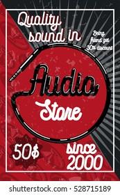 Vintage audio store poster