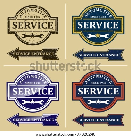 automotive repair signs