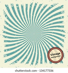 Vintage background. Colorful rays. Vector illustration EPS10