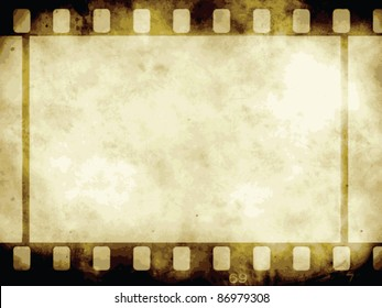 Vintage background with film flame. Vector format.