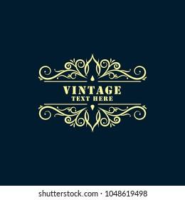 Vintage Background or Vintage Frame.