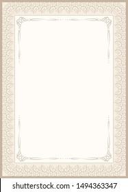 vintage background for invitation or etiquette