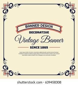 Vintage background label style Design Template, Vector Illustration