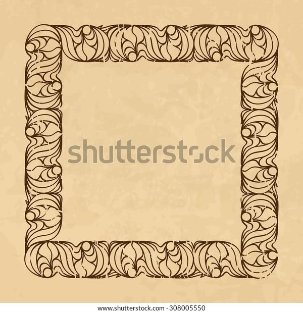 Vintage background with an ornamental frame