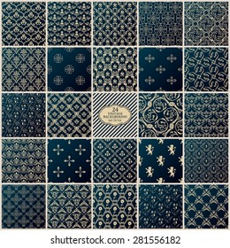 Vintage background set. Seamless pattern ornament and decoration design