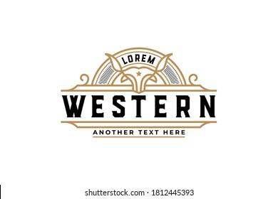 Vintage badge best for label or restaurant logo