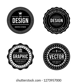 Vintage badge design