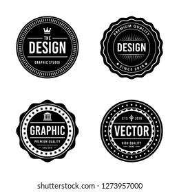 Vintage badge design