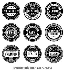 A Vintage badge design set.