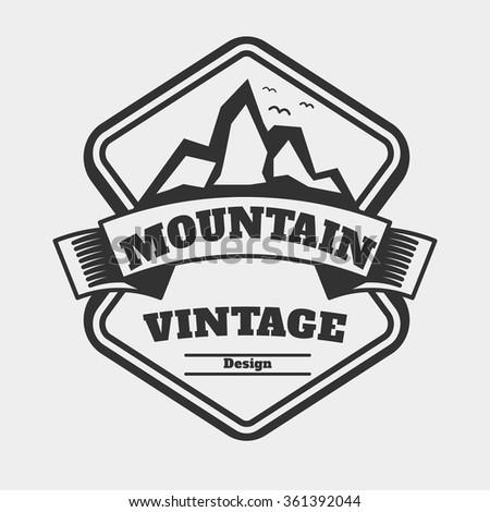 Vintage Badge Logo Concept Mountain Retro Stock Vector (Royalty Free ...