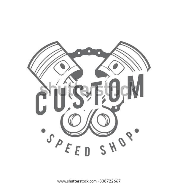 Vintage Badge Motorcycle Logo Vector Motorcycle Stock Vector