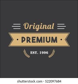 Vintage Badge Tag Banner For Clothing Premium Quality Logo Illustration Vector 3