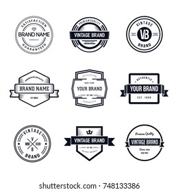 Vintage Badges Logo Template Vector Set