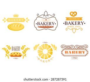 Vintage bakery labels, badges and design elements