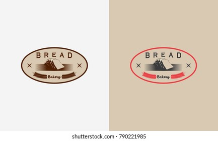 Vintage Bakery logo badge designs, Bread logo designs badge vector illustration
