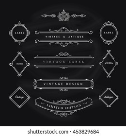 Vintage Banner Elements Flourishes calligraphic Design Vector