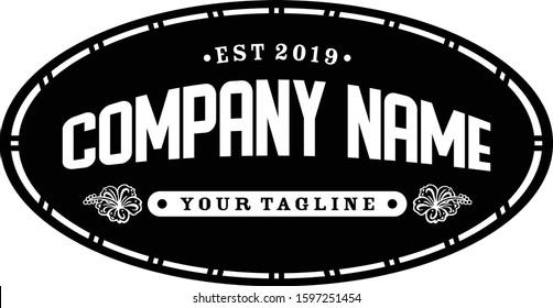 Vintage bar label and logo, reto, coffe, hawaii