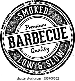 Vintage Barbecue BBQ Menu Design Stamp