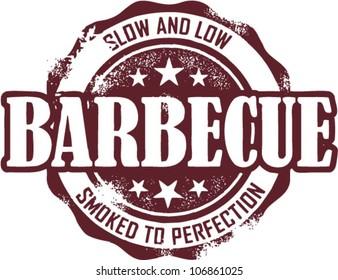 Vintage Barbecue Restaurant Menu Stamp