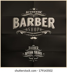 Vintage Barber Shop Badges