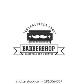 vintage barbershop logo design,emblems,labels,hairstyle logo vector template