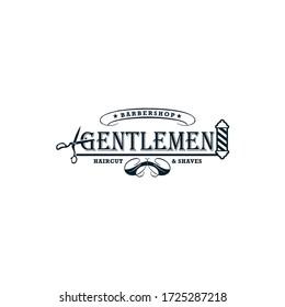 Vintage Barbershop Logo Vector Vintage