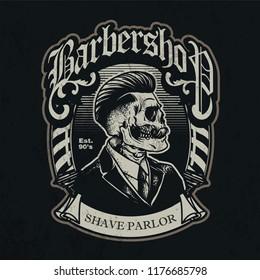 vintage barbershop patch