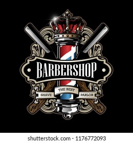 vintage barbershop sign