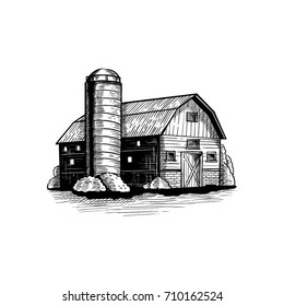 Vintage Barn Illustration