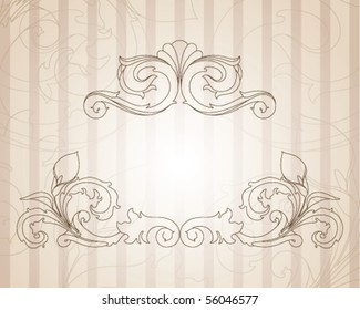 Vintage baroque background