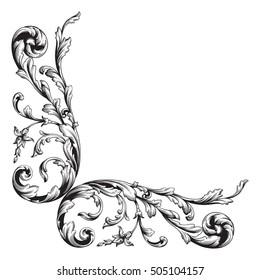 Similar Images Stock Photos Vectors Of Baroque Vector Vintage