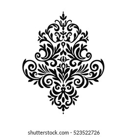 Vintage baroque frame scroll ornament engraving border floral retro pattern antique style acanthus foliage swirl decorative design element filigree calligraphy wedding - vector on a white background.