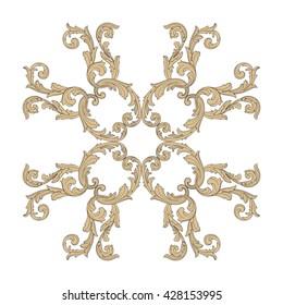 Vintage baroque ornament. Retro pattern antique style acanthus. Decorative design element filigree calligraphy