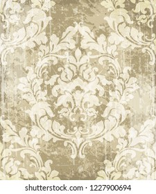 Vintage baroque ornamented background Vector. Royal luxury texture. Elegant decor design with old grunge effects