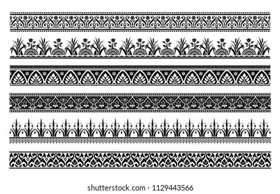 Vintage baroque and victorian borders, flower ornaments, retro collections, vector illustration and design.