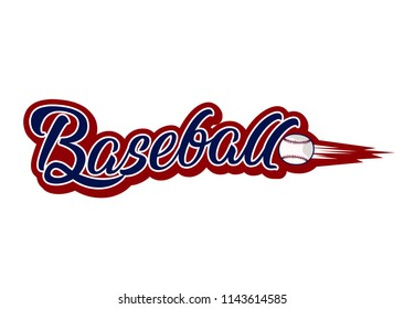Vintage Baseball With Ball Style. Sport elements for sportswear, club, banner, card, labels or posters
